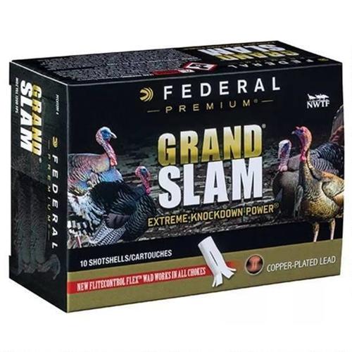 "Federal Grand Slam Turkey 4DE 12 Gauge 3"" 1-3/4oz #5 Shot FlightControl Flex Wad"