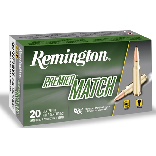 Remington Premier 6mm Creedmoor Ammo 112 Grain Open Tip Match Boat Tail