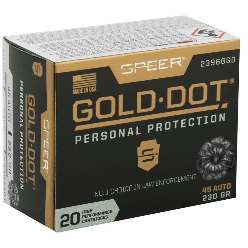 Speer Gold Dot 45 ACP Auto Ammo 230 Grain JHP