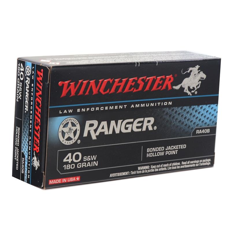 Winchester Ranger 40 S&W 180 Grain Bonded JHP