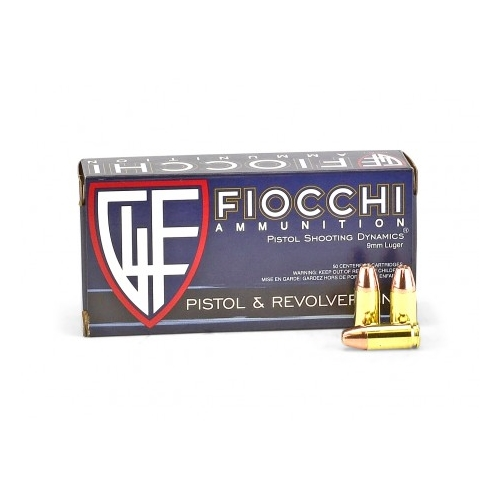 Fiocchi 9mm Luger Ammo 115 Grain Jacketed Hollow Point