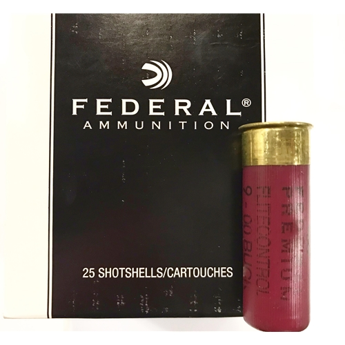"Federal Tactical 12 Gauge Ammo 2 3/4"" 00 Ball Buckshot 9 Pellets"