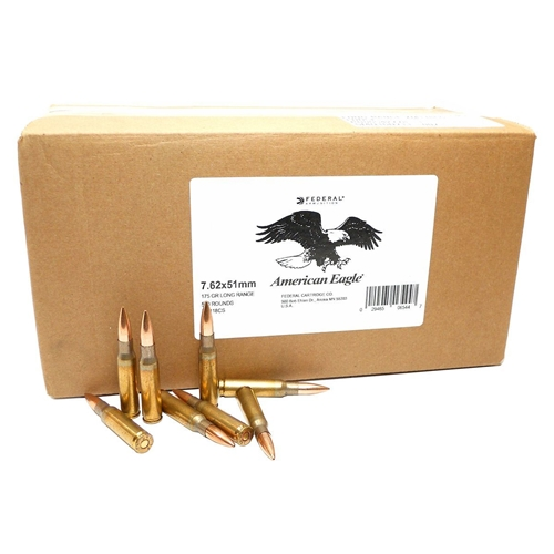 Federal Lake City 7.62x51mm M118 Ammo 175 Grain Long Range OTM 500 Rounds