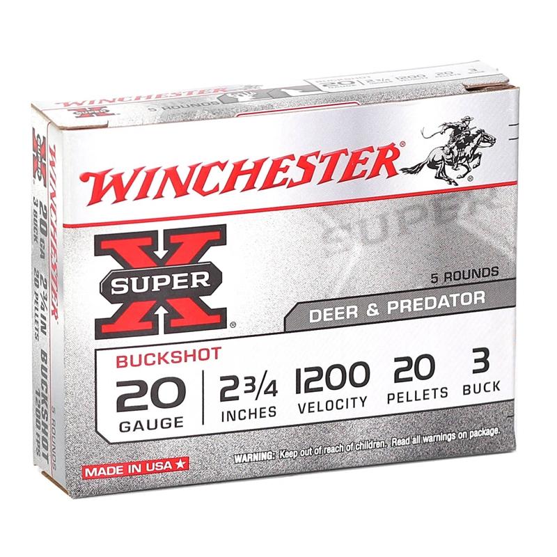 "Winchester Super-X 20 Gauge 2 3/4"" #3 Shot"