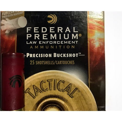 "Federal Law Enforcement Tactical 12 Gauge Ammo 2-3/4"" 00 Buckshot 8 Pellets Precision Buckshot"