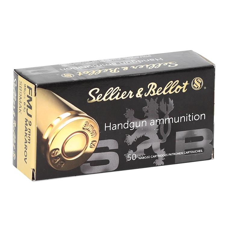 Sellier & Bellot 9mm Makarov Ammo 95 Grain Full Metal Jacket