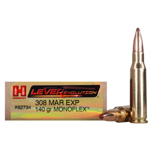 Hornady LeveRevolution 308 Marlin Express Ammo 140 Grain MonoFlex Lead-Free