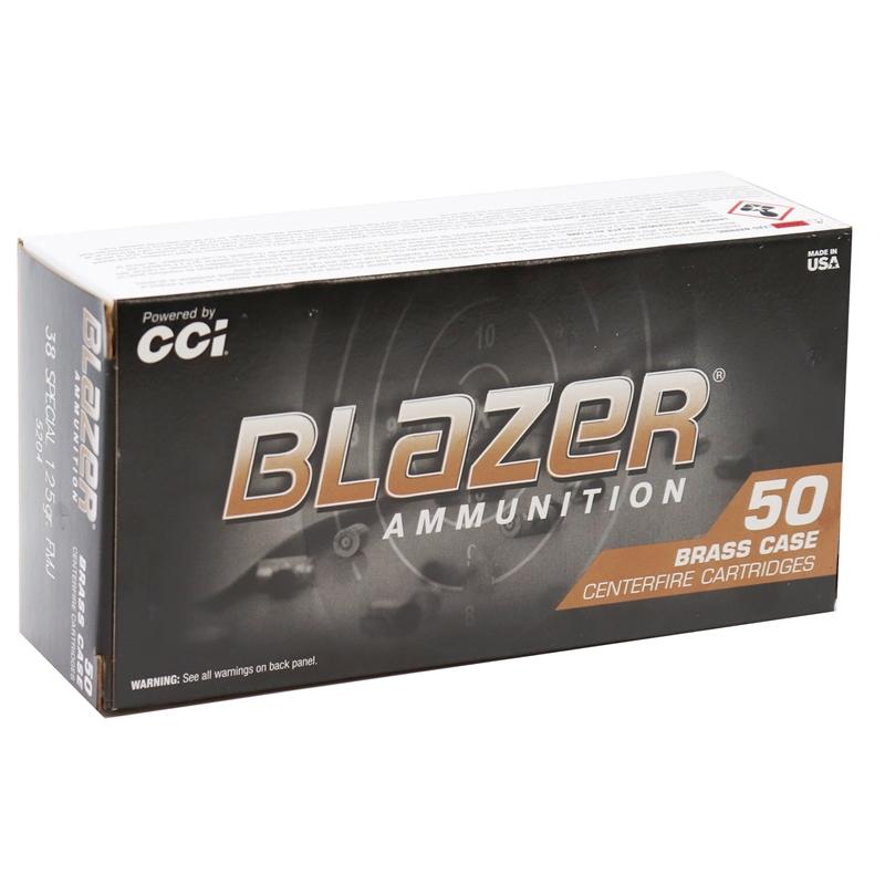 CCI Blazer Brass 38 Special 125 Grain FMJ