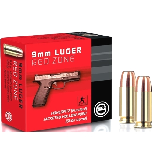 Geco Self Defense Red Zone 9mm Luger Ammo 124 Grain JHP