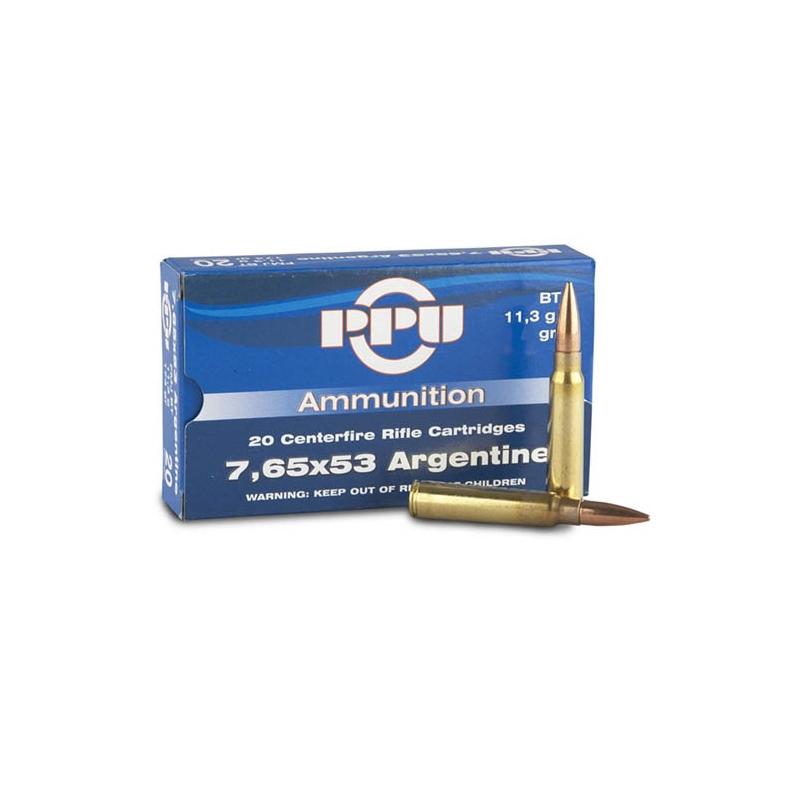 Prvi Partizan 7.65mm Argentine Mauser Ammo 180 Grain Soft Point