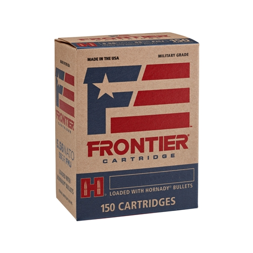 Frontier Frontier 5.56x45mm NATO Ammo XM193 55 GrainHornady Full Metal Jacket Ball Projectile