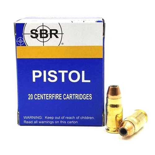 SBR 357 SIG Ammo 125 Grain Jacketed Hollow Point
