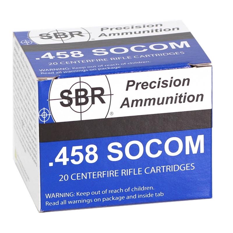 SBR 458 SOCOM Subsonic Ammo 550 Grain Full Metal Jacket TCJ