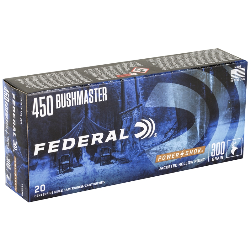 Federal Power-Shok 450 Bushmaster Ammo 300 Grain Soft Point
