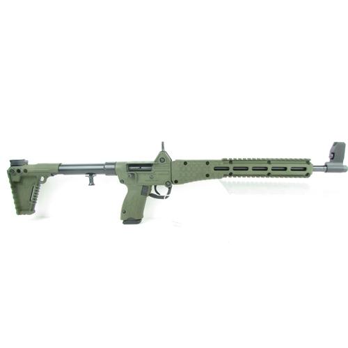 """Kel-Tec Sub 2000 Gen2 Glock 17 9mm Luger Semi-Auto 17 Rounds 16.25"""" barrel"""" Green"""