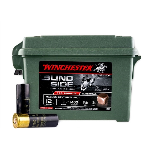 Winchester Blind Side 12 Gauge 3 1-3/8oz. #2 Shot Non-Toxic Hex Steel Shot