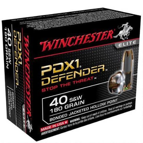 Winchester PDX1 40 S&W 180 Grain Bonded Jacketed Hollow Point