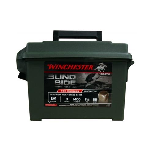 Winchester Blind Side 12 Gauge 3 1-3/8oz. bb Shot Non-Toxic Hex Steel Shot