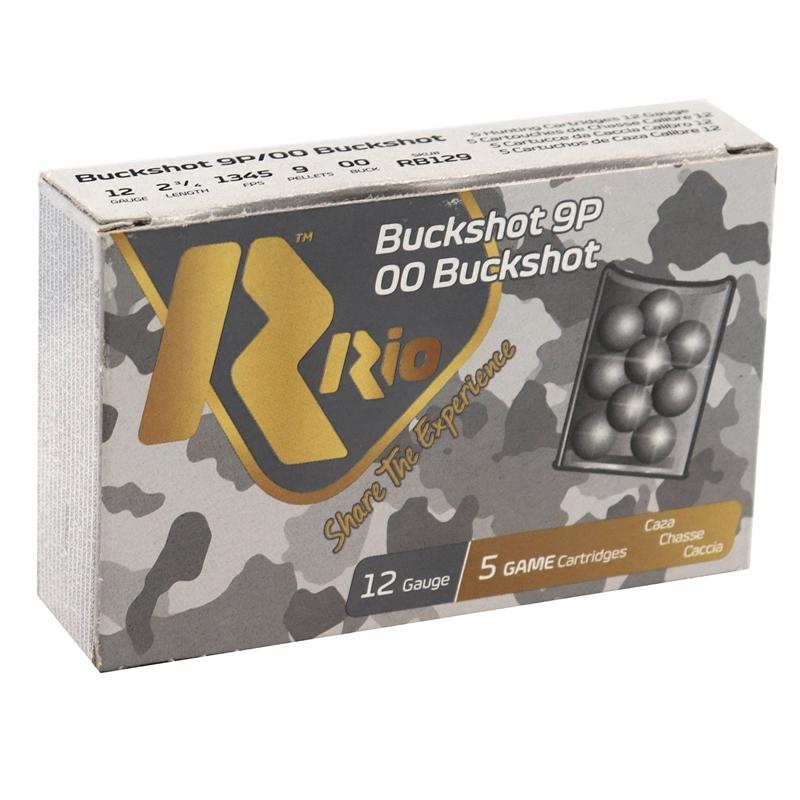 "Rio 12 Gauge Royal Ammo 2 3/4"" 00 Buckshot 9 Pellets"