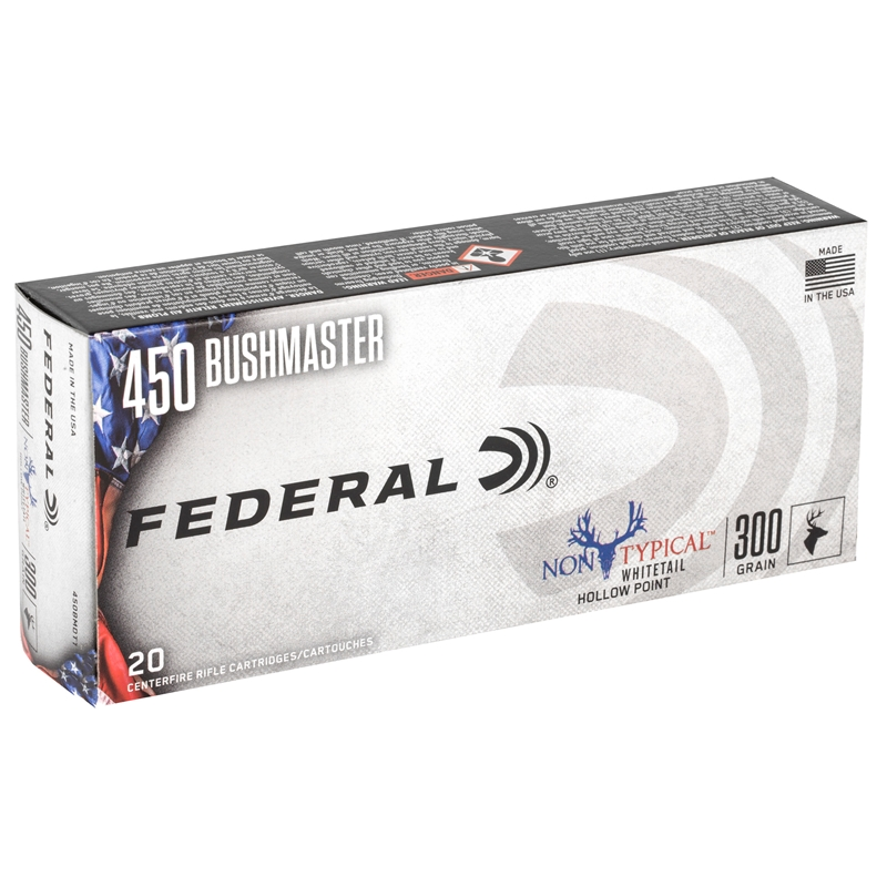 Federal Non-Typical 450 Bushmaster Ammo 300 Grain Soft Point