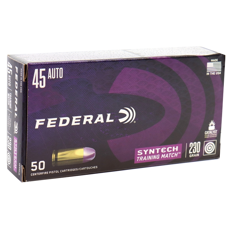 Federal Syntech 45 ACP Ammo 230 Grain Training Match TSJ