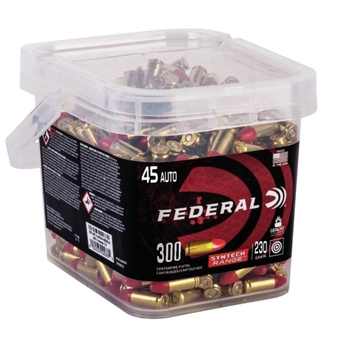 Federal Syntech 45 ACP Ammo 230 Grain TSJ 300 Round Bucket
