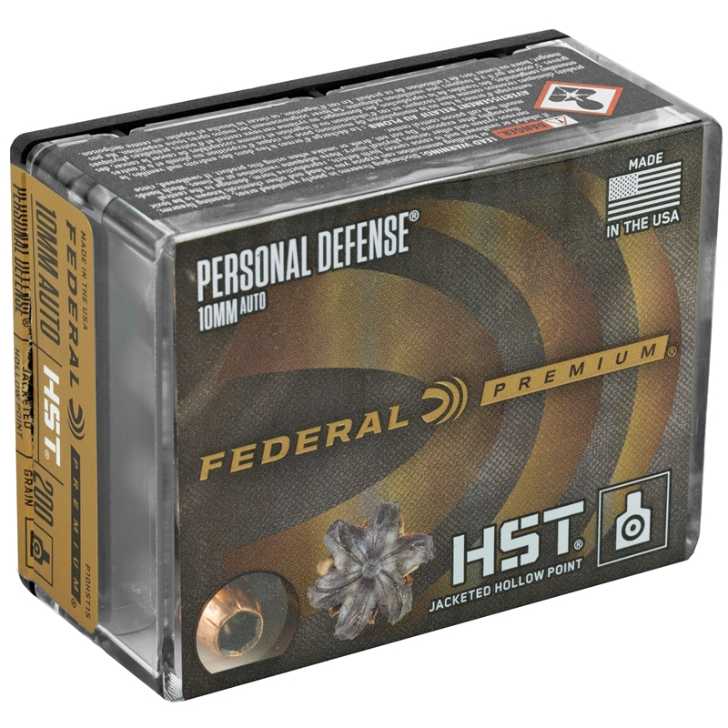 Federal Personal Defense 10mm AUTO Ammo 200 Grain HST Jacketed Hollow Point