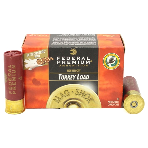 "Federal Premium Mag-Shok 12 Gauge Ammo 3"" 1-3/4 oz #4 Copper Plated Shot High Velocity"