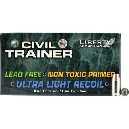 Liberty Civil Trainer 380 ACP Auto Ammo 65 Grain Lead Free Frangible