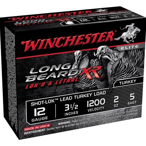 "Winchester Long Beard XR 12 Gauge 3 1/2"" 2 oz. #5 Copper Plated Lead Shot"