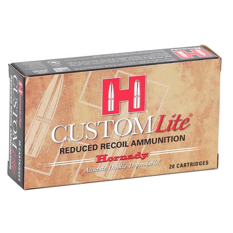 Hornady Custom Lite 308 Winchester Ammo 125 Grain SST