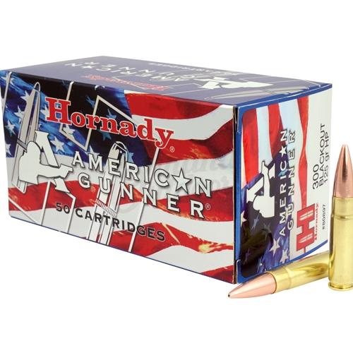 Hornady American Gunner 300 Blackout Ammo 125 Grain HPBT