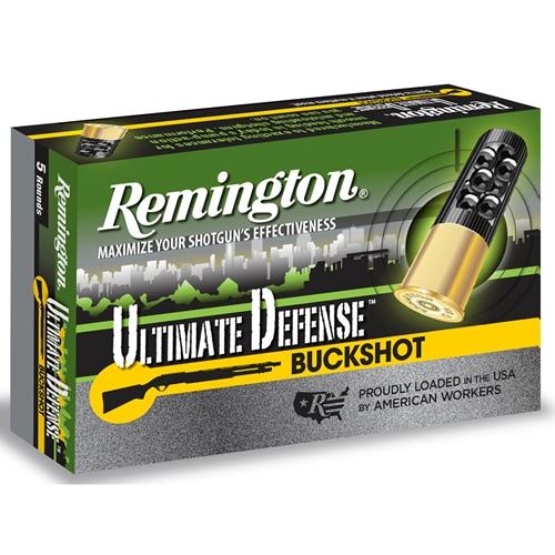 "Remington Ultimate Defense 12 Gauge Ammo 3"" 00 Buckshot Reduced Recoil"