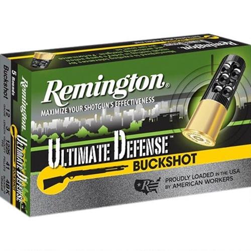"Remington Ultimate Defense 12 Gauge Ammo 3"" #4 Buck 41 Pellets"