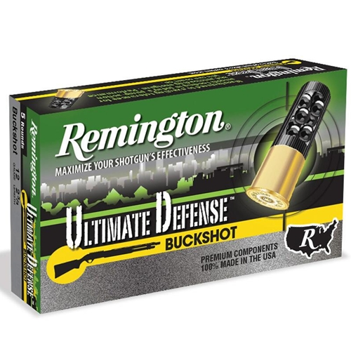 "Remington Ultimate Defense 12 Gauge Ammo 2-3/4"" #4 Buck Reduced Recoil 21 Pellets"
