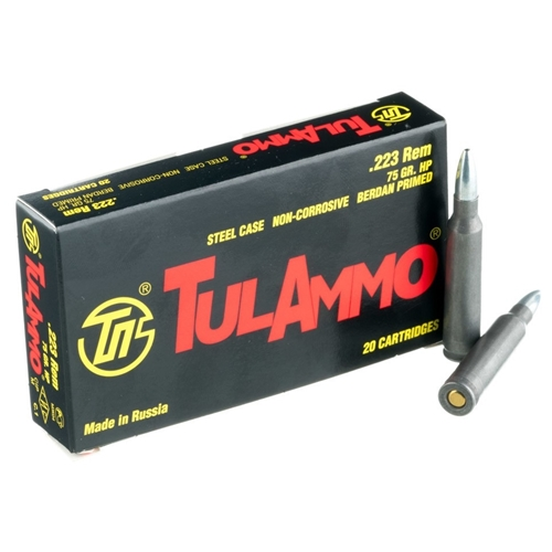 TulAmmo 223 Remington Ammo 75 Grain Bi-Metal Hollow Point