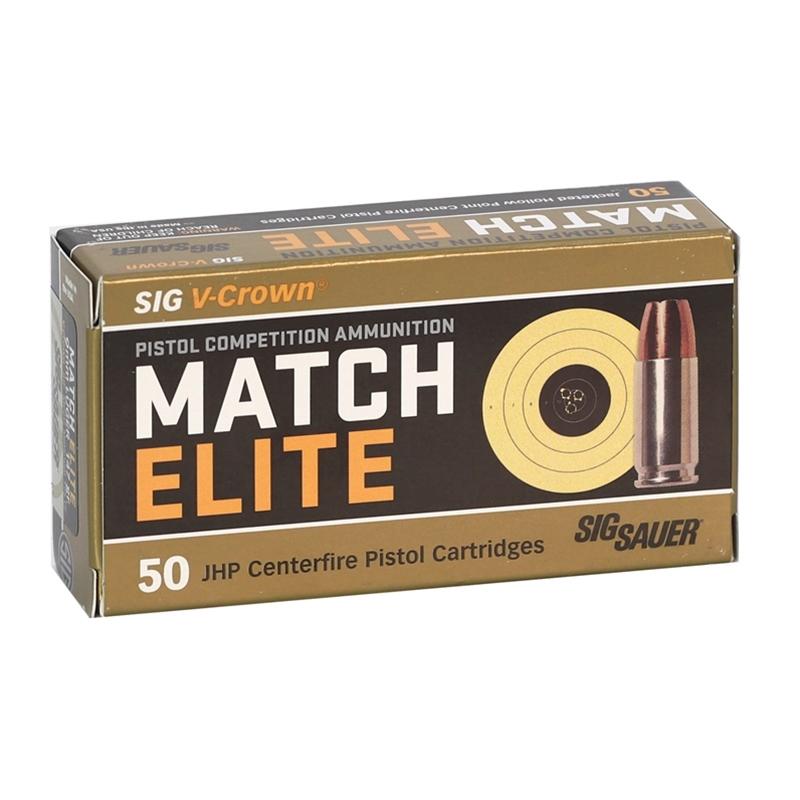 Sig Sauer Elite Performance 9mm Luger Ammo 147 Gr V-Crown JHP