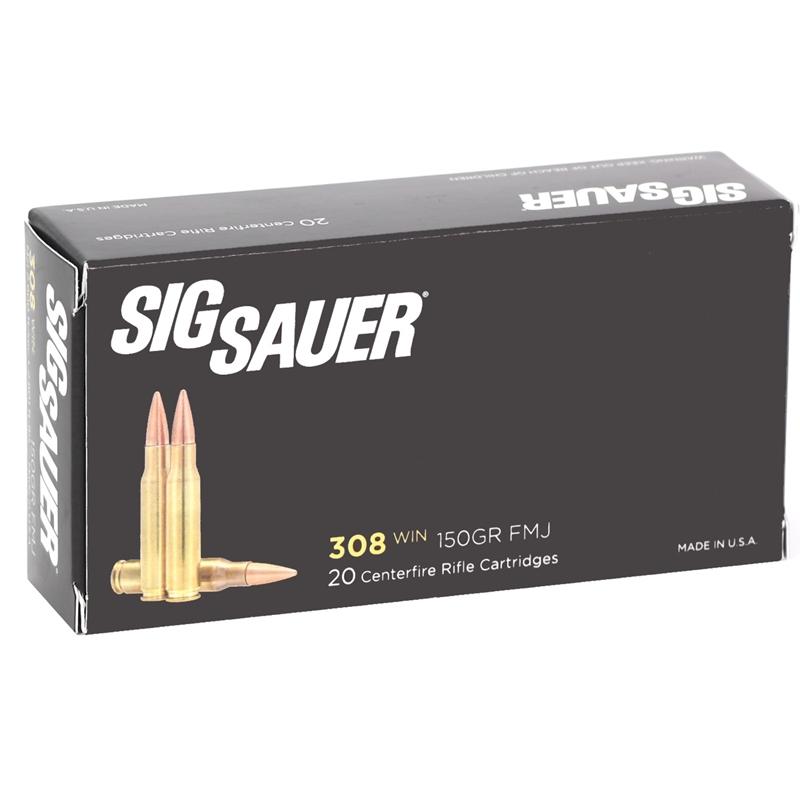 Sig Sauer Elite Performance 308 Winchester Ammo 150 Grain Elite Ball Full Metal Jacket