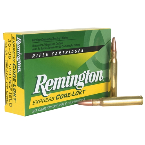 Remington Express 300 Winchester Magnum 150 Grain Core-Lokt PSP Soft Point Projectile