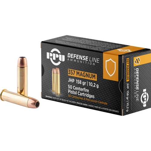 Prvi Partizan Defense Line 357 Magnum Ammo 158 Grain Jacketed Hollow Point