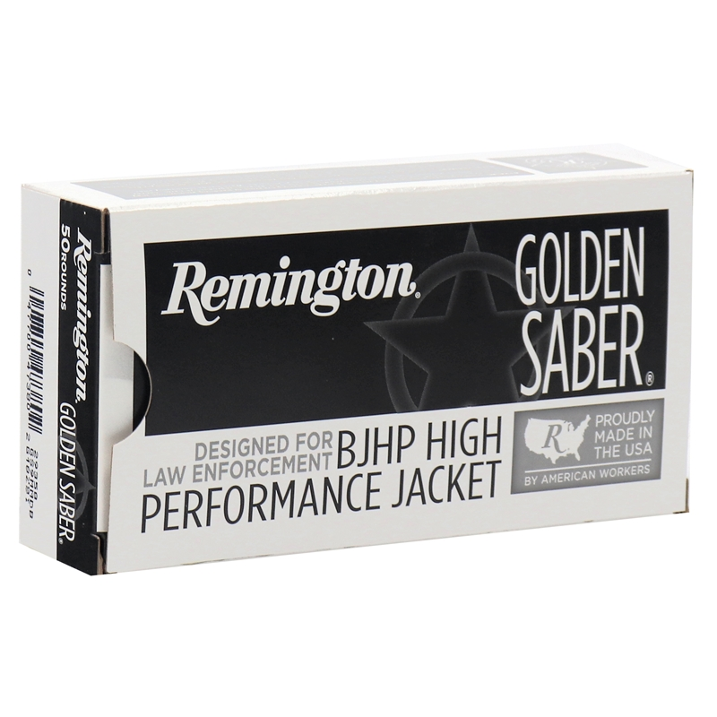 Remington Golden Saber 9mm Luger Ammo 124 Grain +P Brass Jacketed Hollow Point