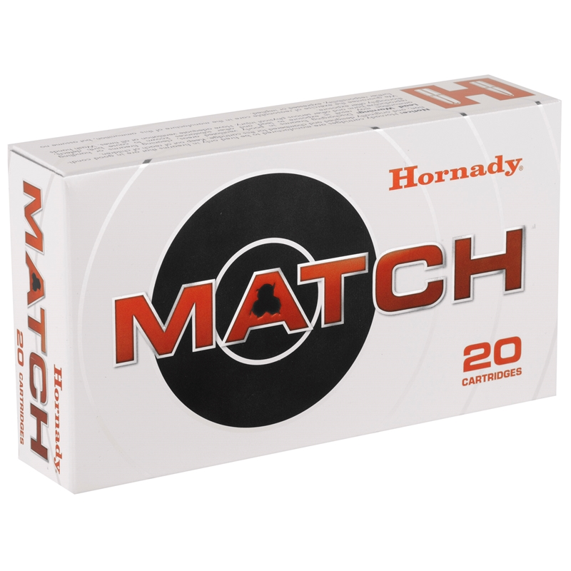 Hornady Match 308 Winchester Ammo 178 Grain Hollow Point Boat Tail
