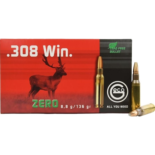 Geco Zero 308 Winchester Ammo 136 Grain Lead Free