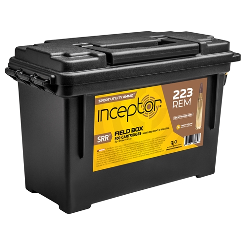 Inceptor Sport Utility 223 Remington Ammo 35 Grain SRR Frangible Can of 500 Rounds