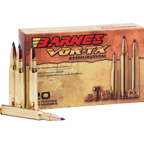 Barnes VOR-TX 30-06 Springfield Ammo 180 Grain Tipped TAC-TX Bullet Flat Base Lead-Free