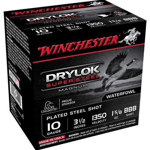 "Winchester Drylok 10 Gauge Ammo 3 1/2"" 1 5/8oz. BBB Shot"