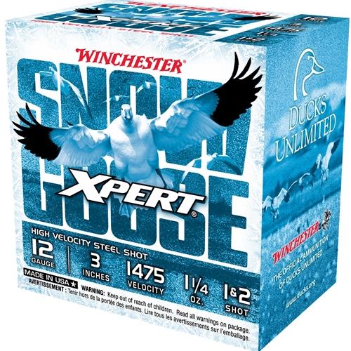 "Winchester USA Xpert Snow Goose 12 Gauge Ammo 3"" 1 1/4oz. #1 & #2 Steel Shot"