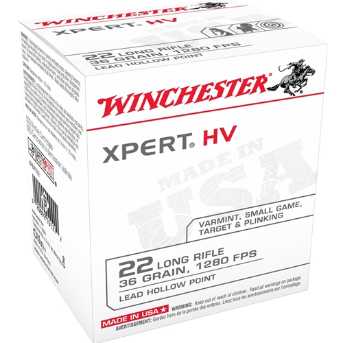 Winchester Xpert 22 Long Rifle 36 Grain High Velocity Lead Hollow Point