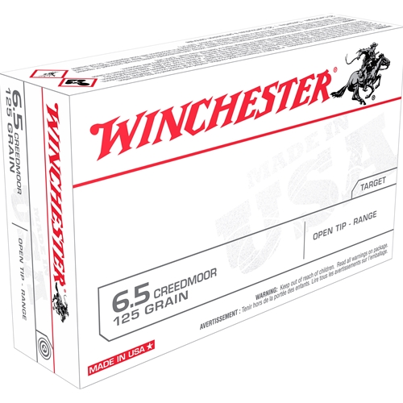 Winchester USA 6.5 Creedmoor Ammo 125 Grain Open Tip Range