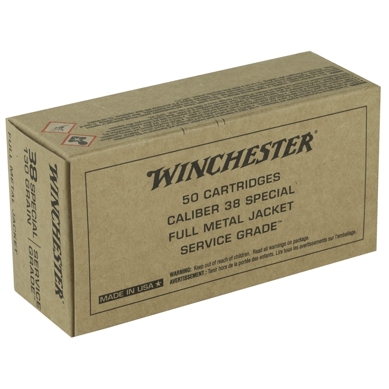 Winchester Military Service Grade 38 Special Ammo 130 Grain Full Metal Jacket